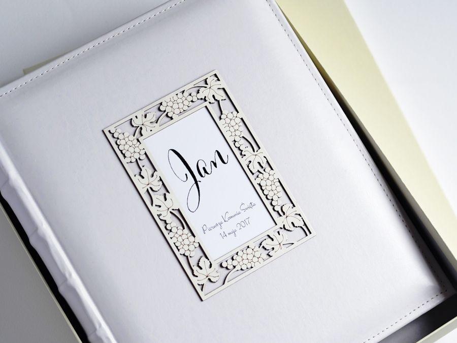 Biały ALBUM w pudełku Pamiątka Komunii
