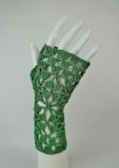 Rękawiczki, mitenki w zieleni - Modne rękawiczki