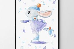 Plakat, obrazek świąteczny króliczek 50X70 B2