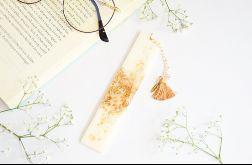 Zakładka do książki - złoto w bieli