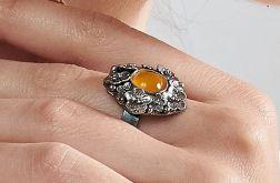 Srebrny pierścionek z agatem model Marise