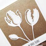 Kartka ŚLUBNA kraftowo-biała #1 - Kartka na ślub kraftowo-biała