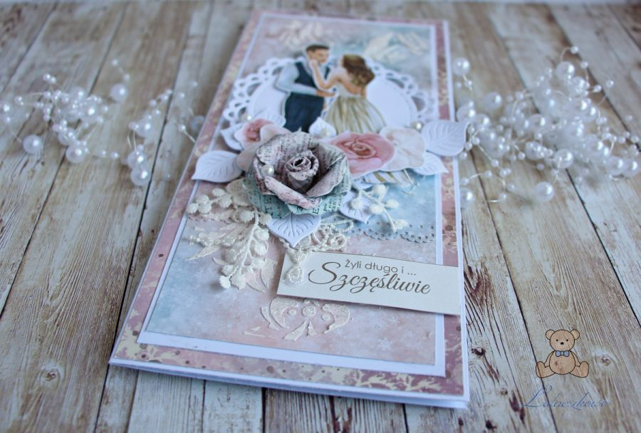 """Kartka ślubna DL """"Wedding Dream """" 2 GOTOWA -"""
