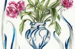 Secesyjny wazon z bukietem