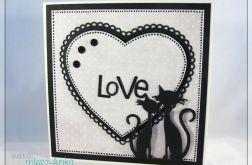 Kartka na ślub z zakochanymi kotami