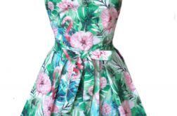 Fartuch kuchenny sukienkowy wzór flamingi