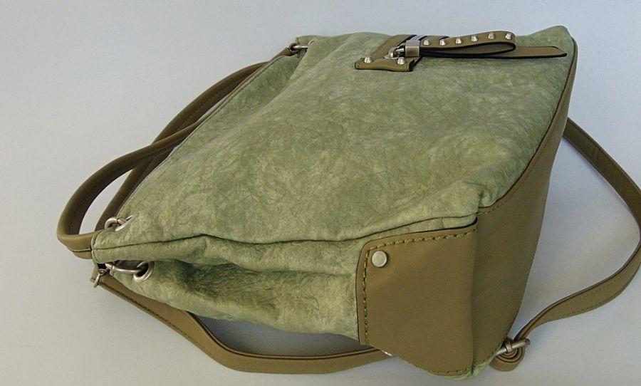 Pistacjowa torba na ramię 01