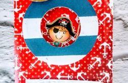 Kartka z okienkiem - pirackie urodziny