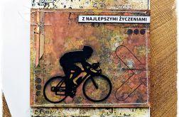 Rowerzysta - kartka urodzinowa