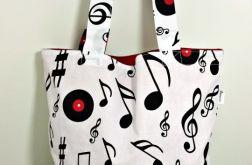 Torba na ramię Shopperka muzyczna