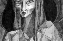Diablica - oryginalny rysunek 0208