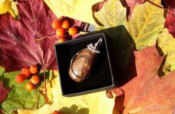 Bronzyt, srebrny wisior z łezką bronzytu