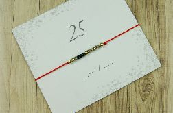 25 Bransoletka Lucky number Morse Code