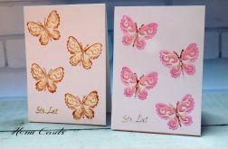 Kartka okolicznościowa motylki