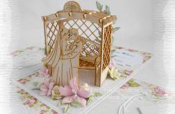 Ślubny box z ławeczką i Parą Młodą