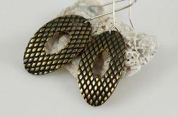 Rybia łuska - mosiężne kolczyki 140105-03
