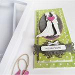 Kartka ślubna w pudełku