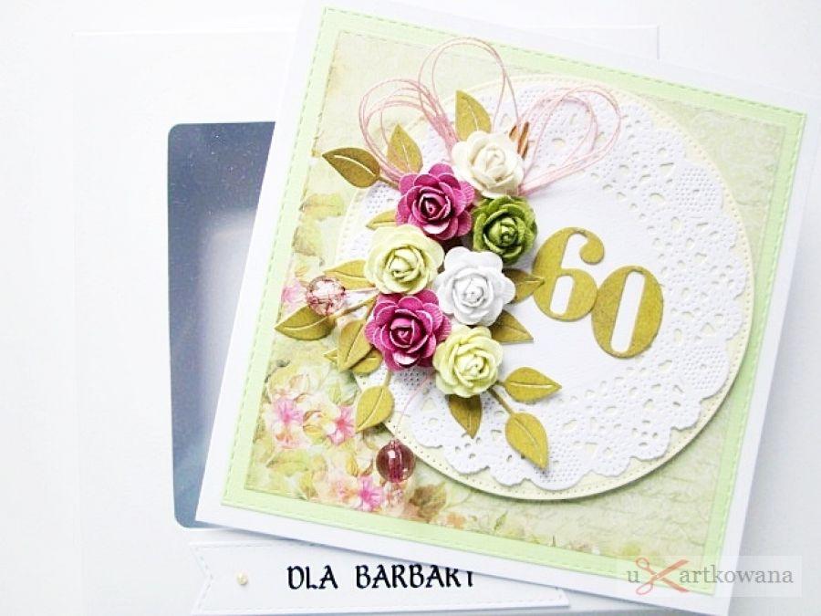 Kartka URODZINOWA z kolorowymi różami