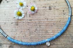 Naszyjnik - niebieski minimalizm