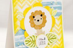 Kartka urodzinowa z lwem KU1916