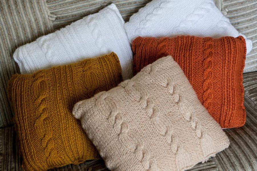 Poduszka w jesiennym kolorze