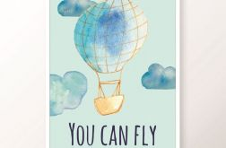 Plakat / YOU CAN FLY blue