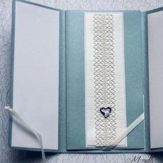 Koronkowa - kartka ślubna