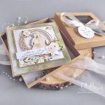 Kartka ślubna w pudełku eco rustykalna - Kartka ślubna w pudełku eco rustykalna