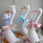 Gąska wiosenna Wielkanoc różowe kropki GOTOWA -
