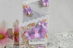 Ślubna kartka kaskadowa w pudełku 05