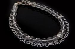Bransoletka srebrna kryształ górski