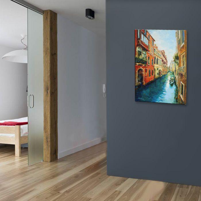 Wodna Wenecja - malowany na płótnie