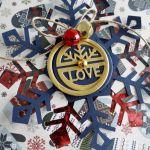 Kartka świąteczna ŚNIEŻYNKA SHAKER #2 - Detal2