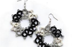 Biało - czarne koroneczki
