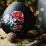 Kubek ręcznie malowany - Muchomor - Duży kubek - Muchomor