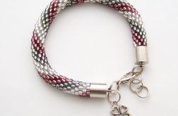 Bransoletka wąż biało-szaro-fioletowa1