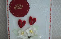 Dwa serca- kartka ślubna
