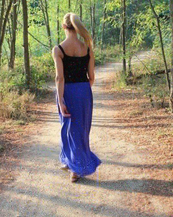 Spódnica długa lejąca sie chaber