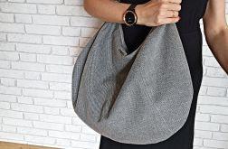 Duża szara torebka shopper bag bardzo pojemna XXL