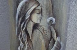 Anioł z dmuchawcami -zawieszka