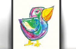 21x30cm  Ptak obrazek do pokoju dzieci