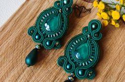 Zielone sztyfty z kryształkami