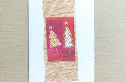 Wesołe choinki - kartka na Boże Narodzenie