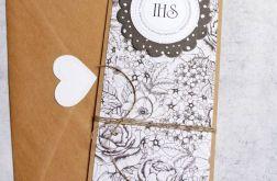 KARTKA KOMUNIJNA :: czarnobiałe kwiaty