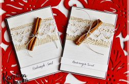 Kartki świąteczne pachnące cynamonem