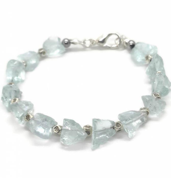 Bransoletka z surowych kryształów topazu - Bransoletka z kryształów topazu