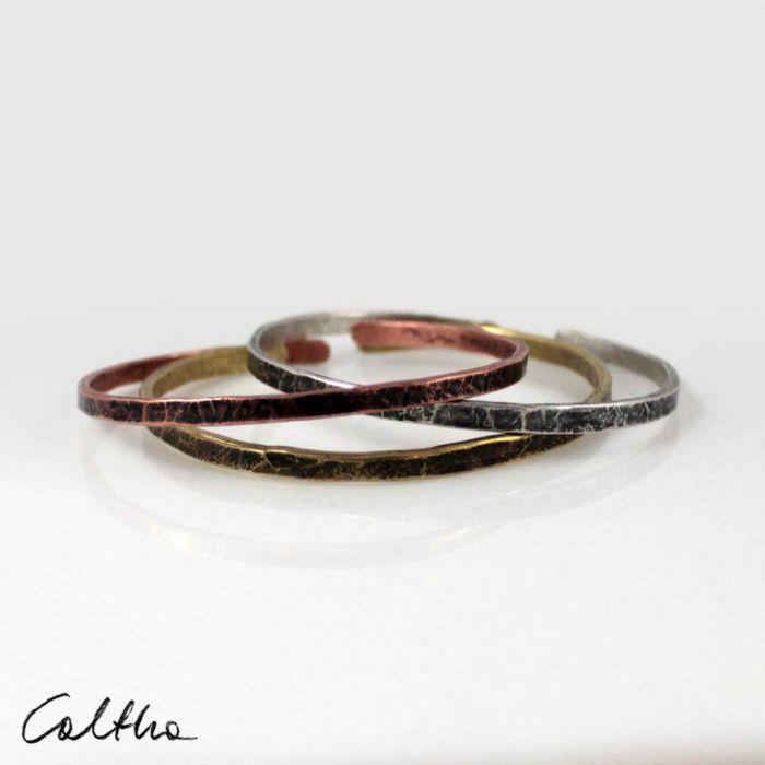 Komplet 3 metalowych bransoletek 190811-00 - Metalowe bransoletki