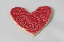 Magnes serce w czerwone róże