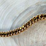 bransoletka żmijka ciemno złota