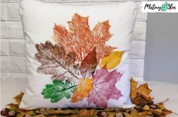 Malowana poduszka ~ jesienne liście